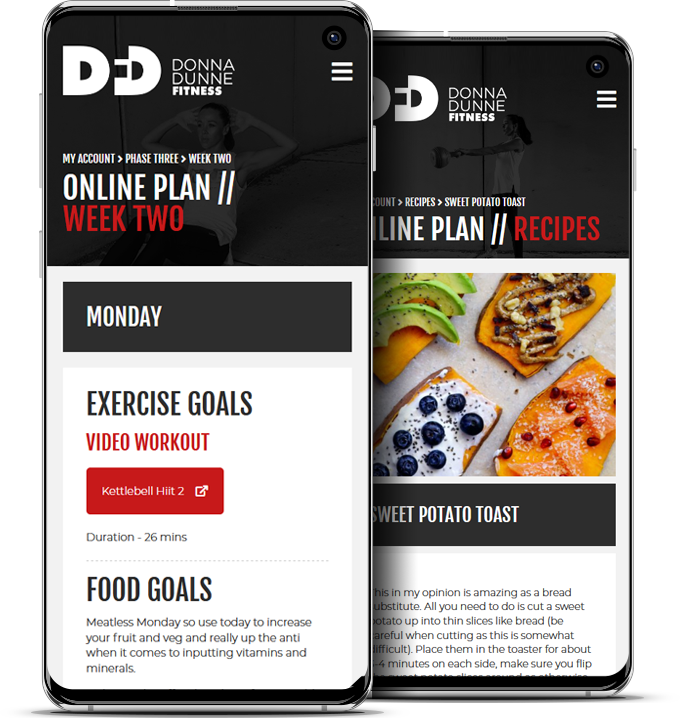 Donna Dunne Fitness - Online Plan