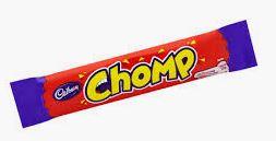 red cadbury chomp bar