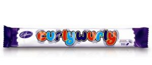 Curly Wurly Chocolate bar made by Cadbury's